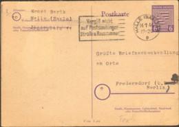 SBZ Provinz Sachsen-Anhalt Ganzsache P 10 Gestempelt A.Halle (Saale) V.1946 Serienstempel Vergiß Nicht A.Postsendungen.. - Zone Soviétique