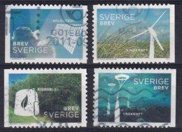 Sweden 2011, Alternative Energy, Complete Set, Vfu. Cv 4,80 Euro - Oblitérés
