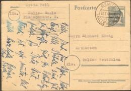 SBZ Ganzsache P 31 (12 Pfg.Arbeiter M.SBZ Aufdruck) Gestempelt A.Diemitz ü.Halle (Saale) - Zone Soviétique