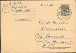 SBZ Ganzsache P 31 (12 Pfg.Arbeiter M.SBZ Aufdruck) Gestempelt A. Hagemann - Zone Soviétique