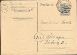 SBZ Ganzsache P 31 (12 Pfg.Arbeiter M.SBZ Aufdruck) Gestempelt A. Großenhain - Zona Sovietica