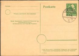 SBZ Thüringen Ganzsache P 13 Gestempelt A. Erfurt 1946 Auf Blanko Karte - Zona Sovietica