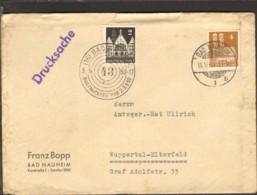 Bizone 2 U.4 Pfg.Bauten V.1950 Auf Drucksache M.Sonderstempel Briefmarkenschau Von Bad Nauheim - Zone Anglo-Américaine