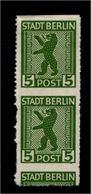 SBZ 1945, Nr 1AB Mit Verschobenem Durchstich (94229) - Sowjetische Zone (SBZ)