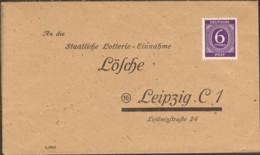 Alliierte Besetzung Staatliche Lotterie-Einnahme Lösche Leipzig Vordruck-Brief Nicht Gelaufen - Giochi
