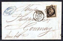 SUPERBE - YT N° 3 Avec Voisin Sur Lettre - Cote: 110,00 € - 1849-1850 Cérès