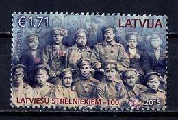 Lettonie - Lettland - Latvia 2015 Y&T N°(8) - Michel N°965 (o) - 1,71€ Carabiniers Lettons - Lettonie