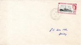 FALKLAND. N°144 De 1964 Sur Enveloppe Ayant Circulé. Bataille Navale Des Falkland. - Falklandeilanden