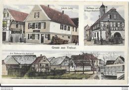 Allemagne .  TREBUR  GRUSS  AUS . 4   VUES  DE 1918 - Allemagne
