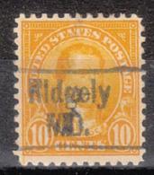 USA Precancel Vorausentwertung Preo, Locals Maryland, Ridgely 562-456 - Vereinigte Staaten