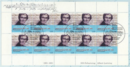 2163 Albert Gustav Lortzing - 10er-Bogen Auf Kartonvorlage, ESST - Blocs