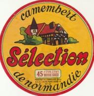 Rare étiquette De Fromage  Camembert Sélection - Fromage