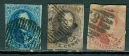 Belgique Cob 10,11 Et 12A Ob Defectueux Voir Scan - 1858-1862 Medallones (9/12)