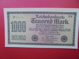 Reichsbanknote :1000 MARK 1922 PEU CIRCULER (B.4) - [ 3] 1918-1933 : Repubblica  Di Weimar
