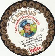 Rare étiquette De Fromage  Camembert Le Normand - Fromage