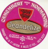 Rare étiquette De Fromage  Camembert Jeandelize - Fromage