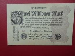 Reichsbanknote :2 MILLIONEN MARK 1923 CIRCULER (B.4) - [ 3] 1918-1933 : Repubblica  Di Weimar