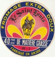 Rare étiquette De Fromage  Le Saint Louis - Fromage