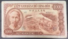 North Vietnam Viet Nam 1,000 Dong UNC Banknote 1951 P#65, CV$50 / 02 Images - Vietnam