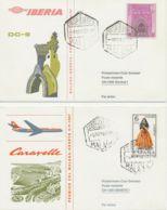 SPANIEN 1967 IBERIA-Erstflug M DC-9 + Swissair-Erstflug Caravelle MALAGA - GENF - Luftpost
