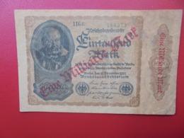 Reichsbanknote :1 MILLIARDE MARK 1922/23 COURT PREFIX CIRCULER (B.4) - [ 3] 1918-1933 : Repubblica  Di Weimar