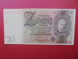 Reichsbanknote :20 MARK 1929 CIRCULER (B.4) - [ 3] 1918-1933: Weimarrepubliek