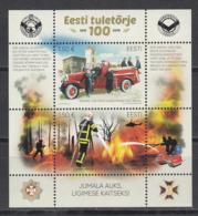 Estonia Estland 2019 MNH **  Mi. Nr. 964-65 Bl.48 Estonian Fire Fighting 100 Year - Estland