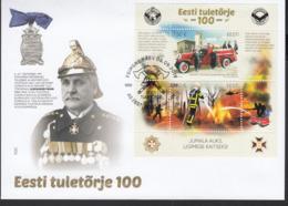 Estonia Estland 2019 MNH **  Mi. Nr. 964-65 Bl.48 FDC Estonian Fire Fighting 100 Year - Estland