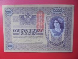AUTRICHE :10.000 KRONEN 1918 CIRCULER (B.4) - Austria
