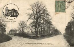 CIRCUIT DE LA SARTHE 1906 LA FOURCHE ROUTE DE PARIS ET DE SAINT CALAIS - Frankrijk