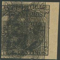 SPANIEN 1879 König Alfons XII 2 C. Braunschwarz, Selt. Ungez. Ungebr. Probedruck - Variedades & Curiosidades