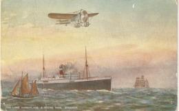 """H. Buck. Ships Of The Air. The Lane Monplane & Ocean Mail Tuck Oilette PC # 9857 - Tuck, Raphael"