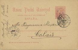 SPANIEN 1890 10 Cs. König Alfons XII. Kab.-GA M. Selt. Privater Zudruck ABART!! - Variedades & Curiosidades