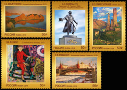 Russia 2019 Set 5 V MNH Contemporary Art Of Russia Painting Sculpture Peinture - Sculpture