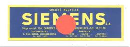 """Marque-pages Publicitaire """" SIEMENS """" Bruxelles - Electricité, Radio, électronique,téléphone,... (b260 / 2) - Marque-Pages"""