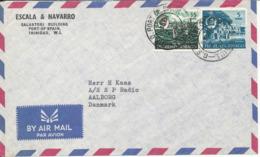 Trinidad & Tobago Air Mail Cover Sent To Denmark 2-6-1967 (1 Of The Stamps Damaged) - Trindad & Tobago (1962-...)