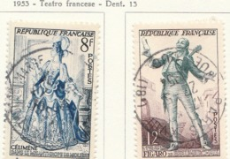 PIA - FRA - 1953 : Teatro Francese  - (Yv 956-57) - Francia
