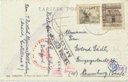 SPANIEN 1943 Heiliges Jahr Des Hl.Jakobus Von Compostela 40 C U. 5 C Cid ZENSUR! - 1931-50 Cartas