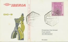SPANIEN 1967 Erstflug M DC-9 Der IBERIA Air Lines MALAGA-GENÈVE +1973 MADRID-USA - Aéreo