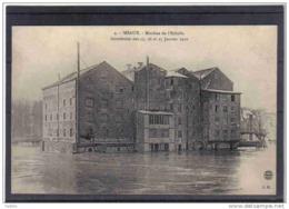 Carte Postale 77. Meaux  Innondation  Janvier 1910  Moulin De L'Echelle Trés Beau Plan - Meaux