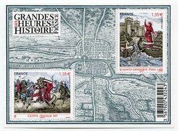 RC 12113 FRANCE BF N° F4704 LES GRANDES HEURES DE L'HISTOIRE DE FRANCE BLOC FEUILLET NEUF ** A LA FACIALE - Blocks & Kleinbögen