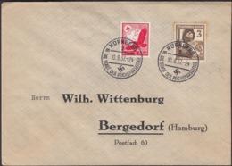 Germany 1937 - MiNr. 530, 643 MiF Brief Mit Werbestempel, Nürnberg 10.8.1937 - Bergedorf (Hamburg). - Germany