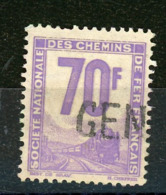 FRANCE -  COLIS POSTAUX - 70F MAUVE -  Yt  N° 18 Obli. - Paketmarken