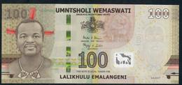 SWAZILAND P42 100  EMALANGENI 2017 Serie AA0028524  UNC. - Swaziland