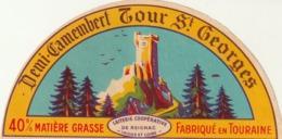 Rare étiquette De Fromage  Demi Camembert Tour St Georges - Fromage