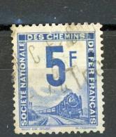 FRANCE -  COLIS POSTAUX - 5F BLEU -  Yt  N° 4 Obli. - Paketmarken