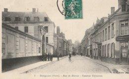 BERGUES  -  59  -  Rue De Bierne  -  Caserne Thémines  -  A La Descente Du Chemin De Fer - Tourneur -Traby - Bergues