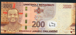 SWAZILAND P43 200  EMALANGENI 2017 ( 2018 )  Serie AA0012907  UNC. - Swaziland