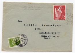 1955 YUGOSLAVIA, SLOVENIA,TPO JESENICE - LJUBLJANA NO 71, TO VRSAC, SERBIA, POSTAGE DUE CHILDREN'S WEEK STAMP USED - 1945-1992 Socialist Federal Republic Of Yugoslavia