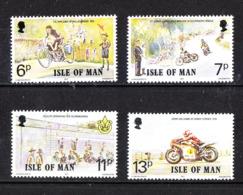 Man - 1977. Tourist Trophy: Historry. Complete MNH Series - Motorfietsen
